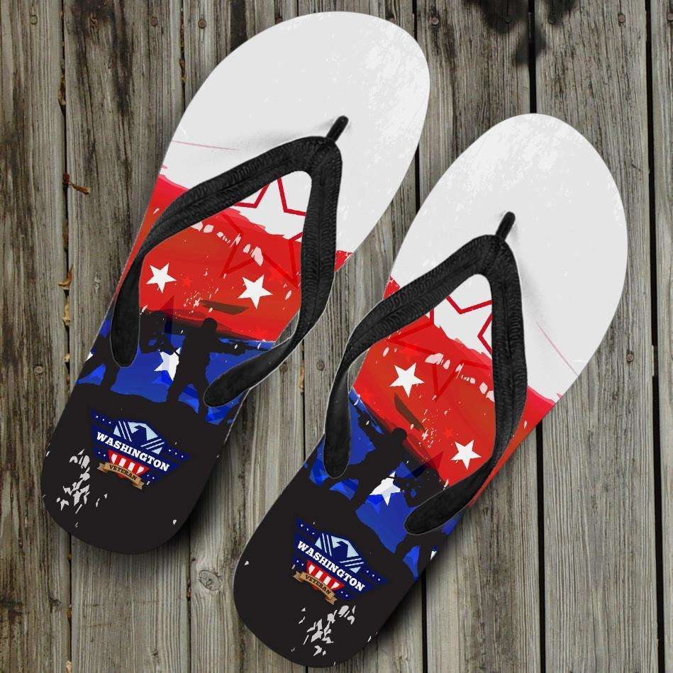 Designs by MyUtopia Shout Out:Washington Veteran Flip-Flops
