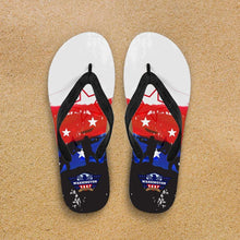 Load image into Gallery viewer, Designs by MyUtopia Shout Out:Washington Veteran Flip-Flops,Women's / Women's Small (US 5-6 /EU 35-37) / White/Red/Blue,Flip Flops