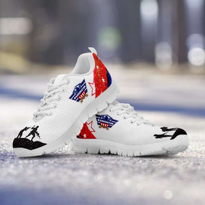 Designs by MyUtopia Shout Out:Washington Veteran Running Shoes,Women's / Ladies US5 (EU35) / White/Red/Blue/Black,Running Shoes
