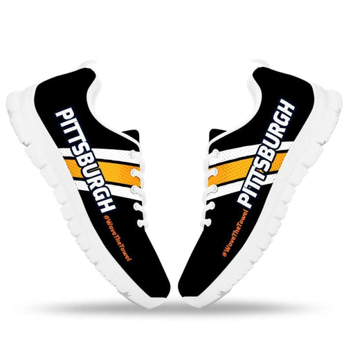 Designs by MyUtopia Shout Out:#WaveTheTowel Pittsburgh Fan Running Shoes