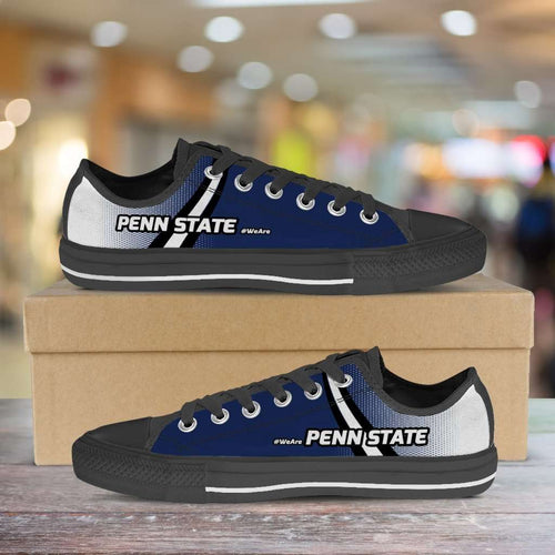 Designs by MyUtopia Shout Out:#WeAre Penn State Canvas Casual Lowtop Shoes,Men's / Mens US5 (EU38) / Blue,Lowtop Shoes