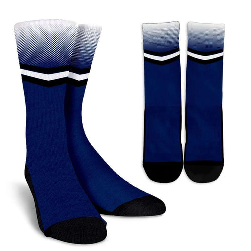 Designs by MyUtopia Shout Out:#WeAre Penn State Fan Crew Socks,Small/Medium / Blue/White/Black,Socks