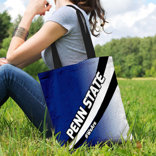 Designs by MyUtopia Shout Out:#WeAre Penn State Fan Fabric Totebag Reusable Shopping Tote