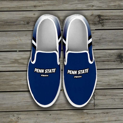 Designs by MyUtopia Shout Out:#WeAre Penn State Fan Slip-on Shoes