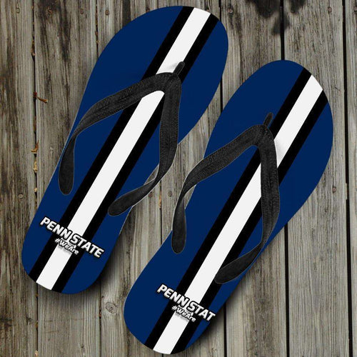 Designs by MyUtopia Shout Out:#WeAre Penn State Flip Flops