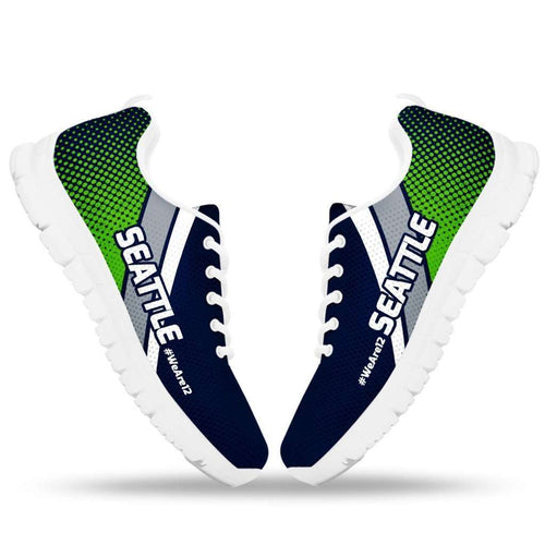 Designs by MyUtopia Shout Out:#WeAre12 Seattle Fan Running Shoes