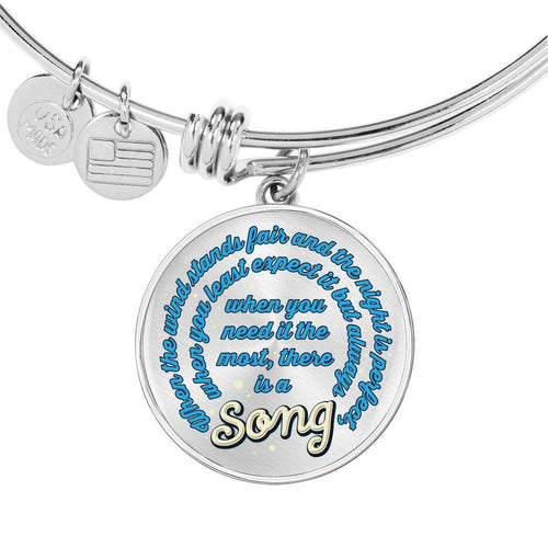 Designs by MyUtopia Shout Out:When you Need it the Most There Is A Song Personalized Engravable Keepsake Bangle Bracelet