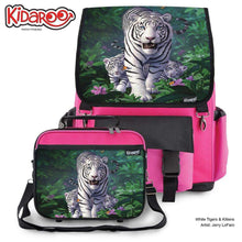 Load image into Gallery viewer, Designs by MyUtopia Shout Out:White Tiger Mom and Cubs Backpack and Lunchbox set,Pink,Backpacks