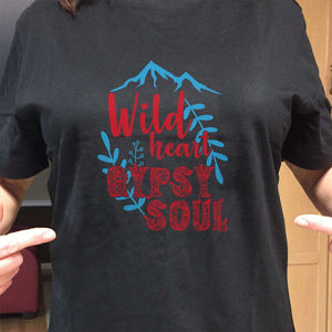 Designs by MyUtopia Shout Out:Wild Heart Gypsy Soul Adult Unisex T-Shirt