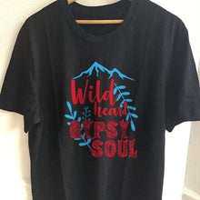 Load image into Gallery viewer, Designs by MyUtopia Shout Out:Wild Heart Gypsy Soul Adult Unisex T-Shirt,S / Black,Adult Unisex T-Shirt
