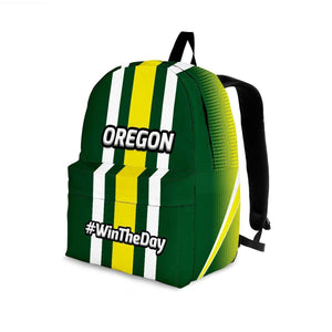 Designs by MyUtopia Shout Out:#WinTheDay Oregon Backpack,Large (18 x 14 x 8 inches) / Adult (Ages 13+) / Green,Backpacks