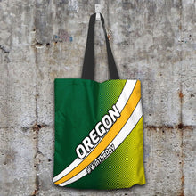 Load image into Gallery viewer, Designs by MyUtopia Shout Out:#WinTheDay Oregon Fan Fabric Totebag Reusable Shopping Tote