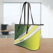 Load image into Gallery viewer, Designs by MyUtopia Shout Out:#WinTheDay Oregon Fan Faux Leather Totebag Purse