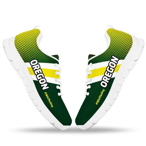 Designs by MyUtopia Shout Out:#WinTheDay Oregon Fan Running Shoes