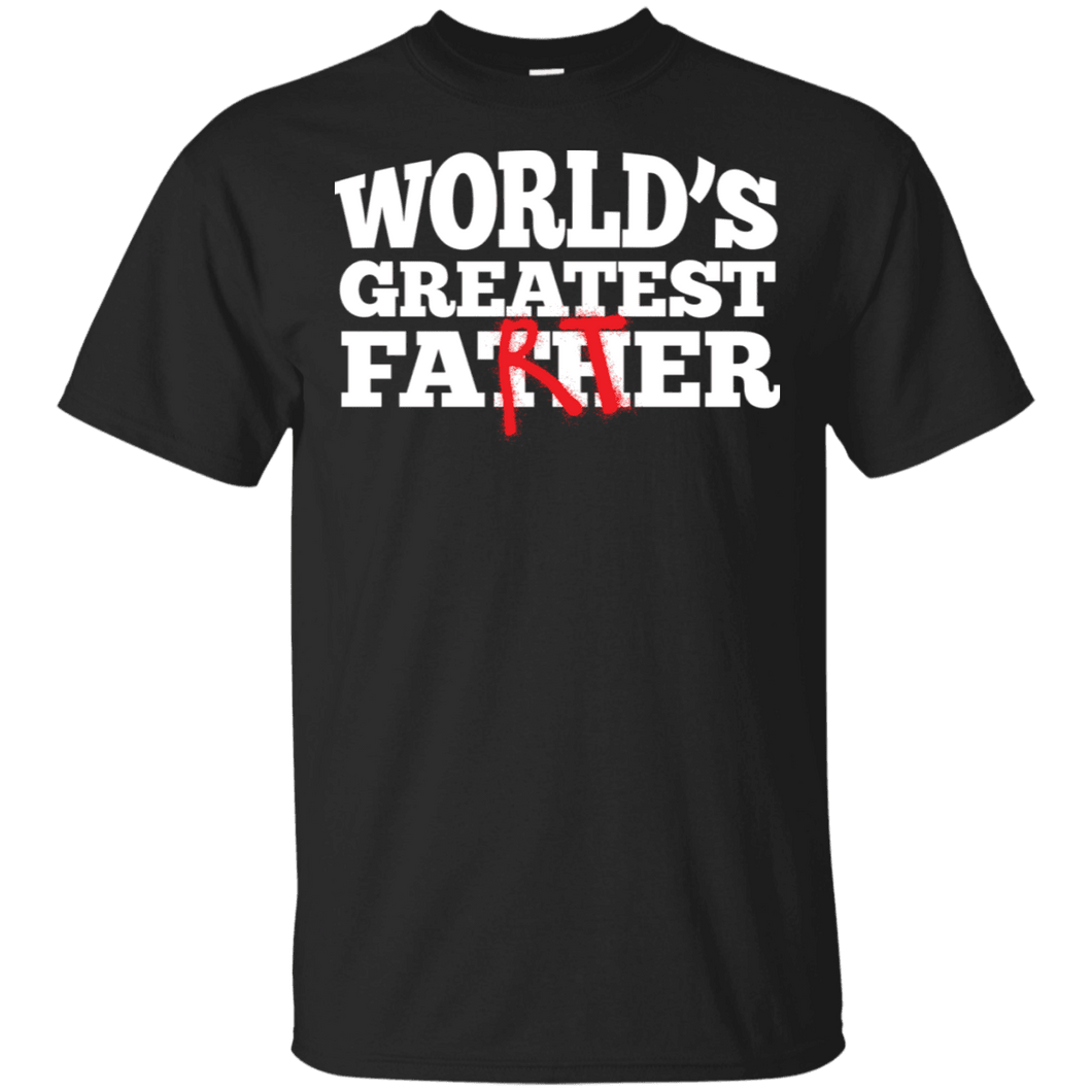 Designs by MyUtopia Shout Out:Worlds Greatest Father (Farter) Ultra Cotton Unisex T-Shirt,Black / S,Adult Unisex T-Shirt