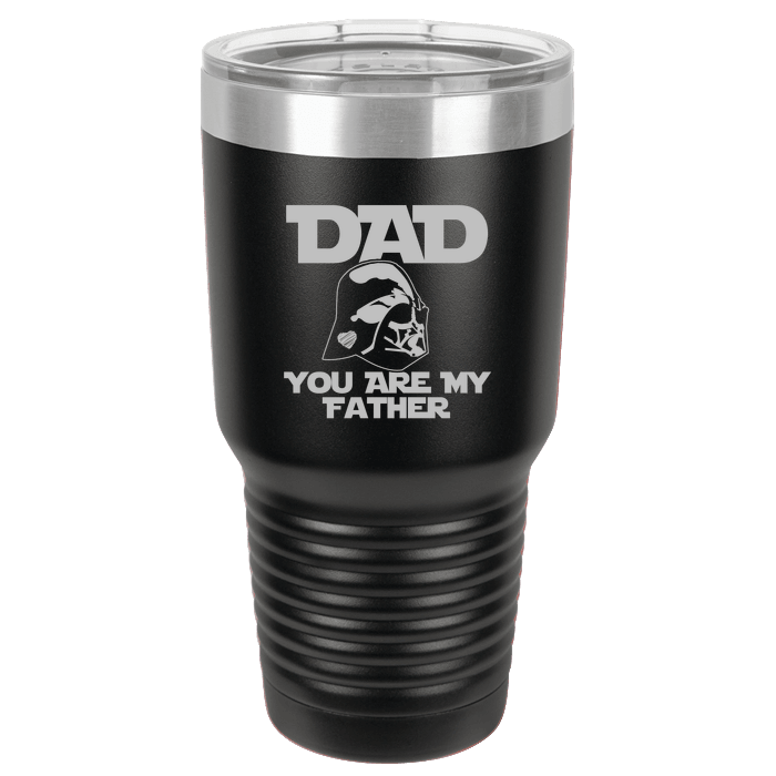 Designs by MyUtopia Shout Out:You Are My Father Polar Camel 30 oz Engraved Insulated Double Wall Steel Tumbler Travel Mug,Black,Polar Camel Tumbler
