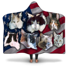 Load image into Gallery viewer, Designs by MyUtopia Shout Out:Your Pet Photos On A Hooded Blanket,Adult / Premium Sherpa,Hooded Blanket - AOP