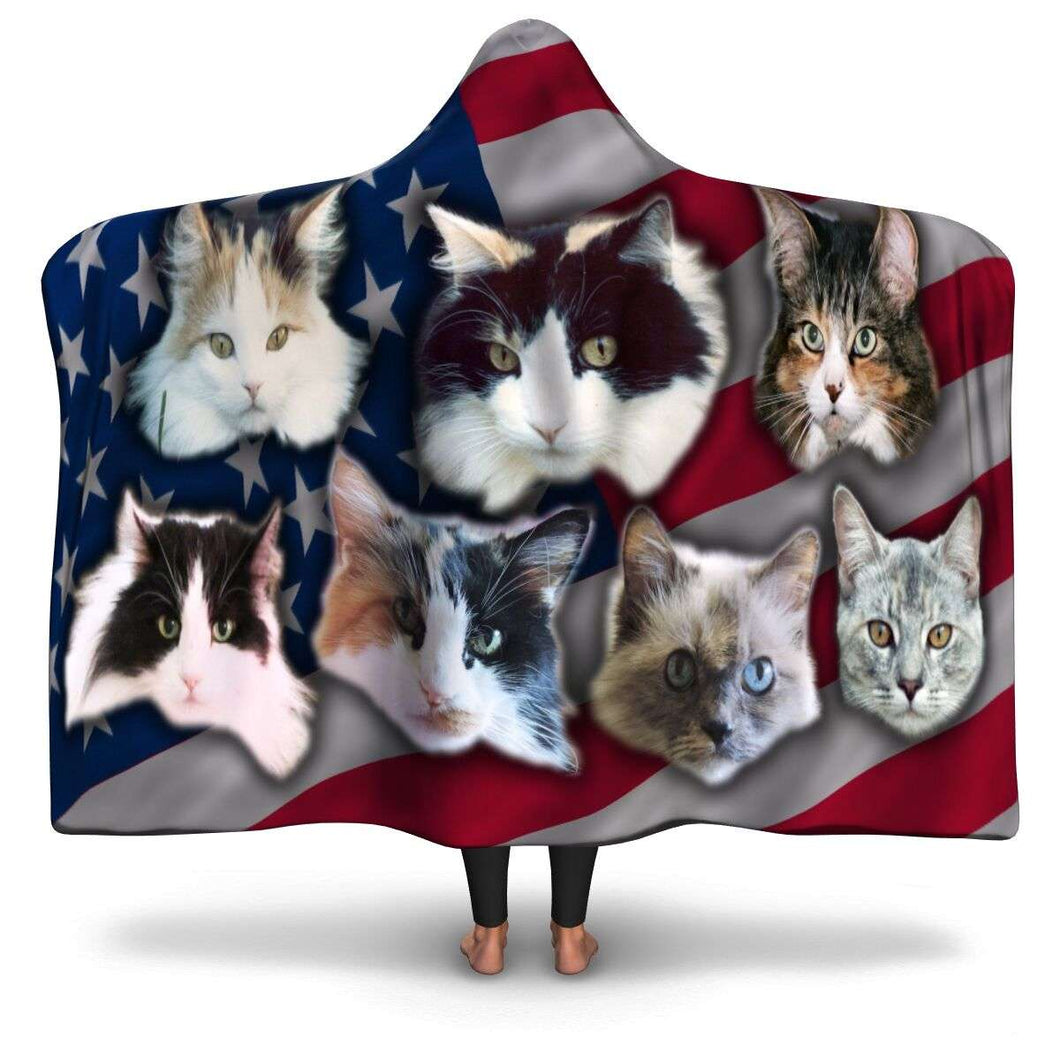 Designs by MyUtopia Shout Out:Your Pet Photos On A Hooded Blanket,Adult / Premium Sherpa,Hooded Blanket - AOP