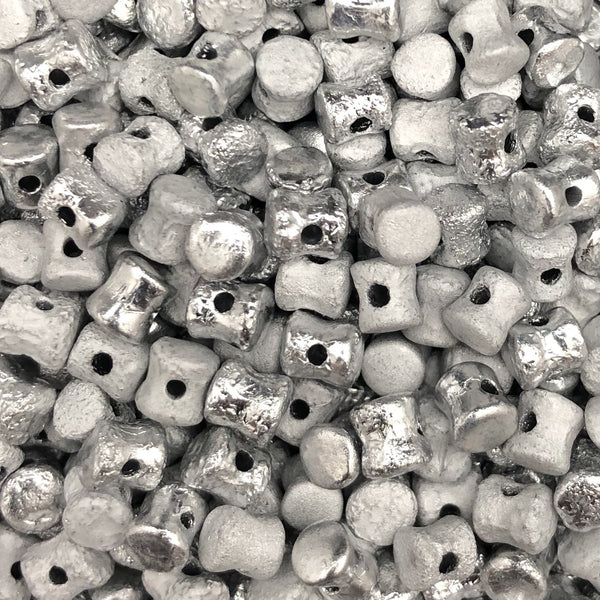Glass Pellet Diabolo Shape Beads 4 x 6mm OLO