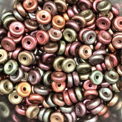 Glass Wheel Beads 6mm OLO