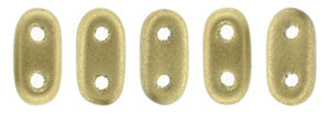 2 Hole Bar Matte Metallic Flax 2/6mm