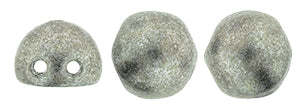 CzechMates 2-Hole Cabochon - Sat Metallic Sharkskin