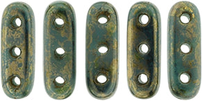 3 Hole Beam Persian Turquoise Bronze Picasso 3/10mm