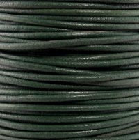 Leather Cord #008 Dark Green Assorted