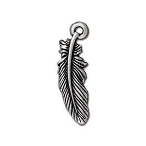 Small Feather Charm Assorted Finishes