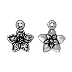 Star Jasmine Charm Assorted Finishes