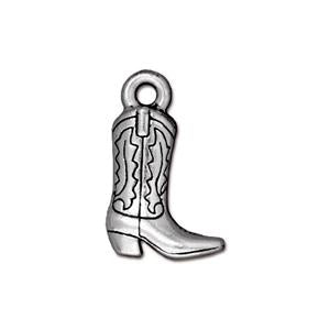 Western Boot Charm Assorted Finishes