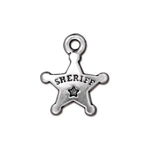 Sheriff's Badge Charm Assorted Finishes