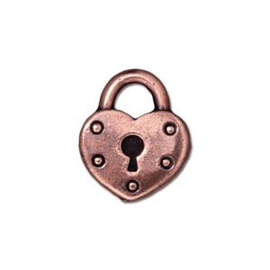 Heart Lock Charm Assorted Finishes