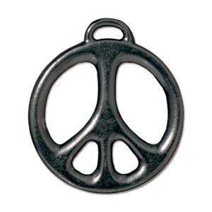Large Peace Charm Assorted Finishes