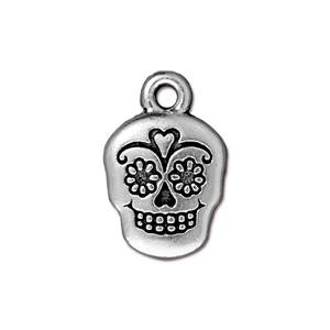 Sugar Skull Charm Assorted Finishes
