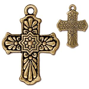 Talavera Cross Charm Assorted Finishes