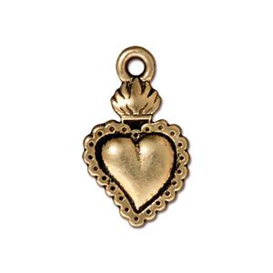 Heart Milagro Charm Assorted Finishes