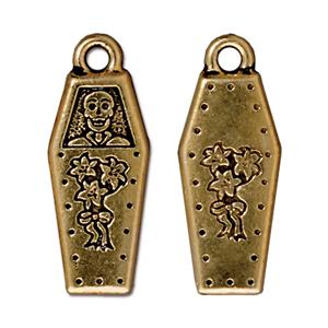 Coffin Charm Assorted Finishes
