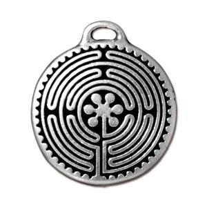 Labyrinth Pendant Charm Assorted Finishes