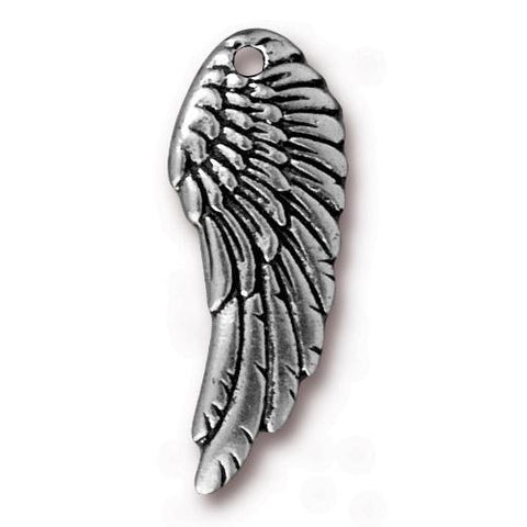 Wing Charm Assorted Finishes OLO