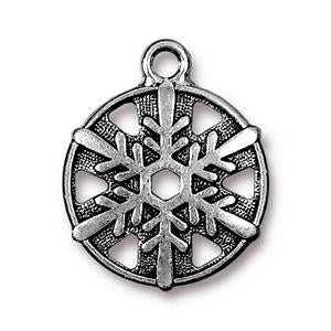 Snowflake Charm Assorted Finishes