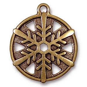 Large Snowflake Charm Assorted Finishes