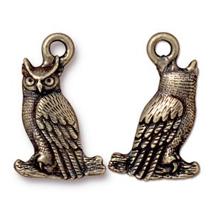 Owl Charm Assorted Finishes