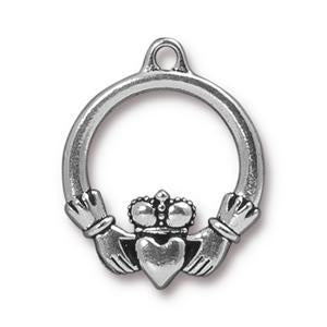 Large Claddagh Charm Assorted Finishes