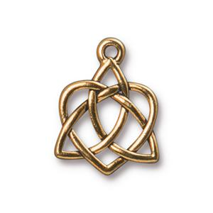 Celtic Open Heart Charm Assorted Finishes