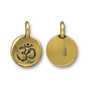Om Circle Charm Assorted Finishes