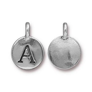 """A"" Charm Assorted Finishes"