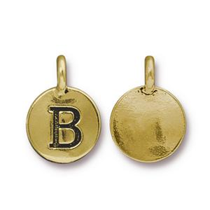 """B"" Charm Assorted Finishes"
