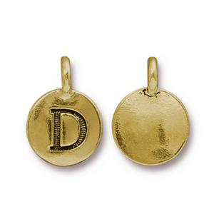 """D"" Charm Assorted Finishes"