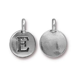 """E"" Charm Assorted Finishes"